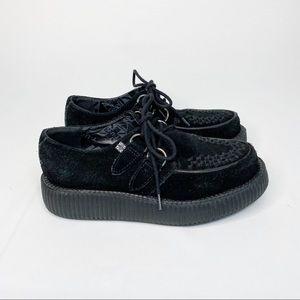 TUK VivaMondo Suede Platform Creepers Black Size 7